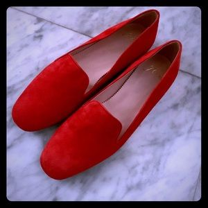 NWOT JCrew Red Suede sz7 shoes